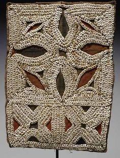 "This striking piece is a rare ""poli"" woven bride price payment from the remote Kabwum Valley in Papua New Guinea's Morobe Province"