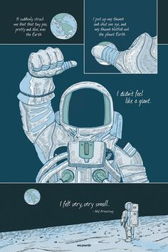 Neil Armstrong - A Giant Among Men poster by Zen Pencils
