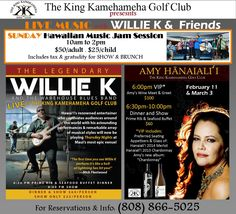 Weekly entertainment at The King Kamehameha Golf Club