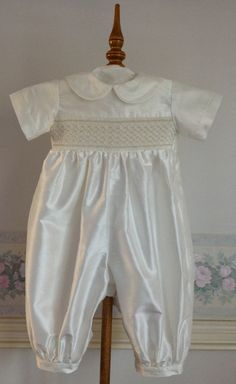 Antony A Boy's Christening Romper created in by myheavenlydesigns