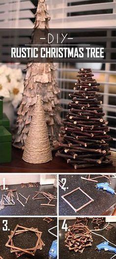 32 Creative DIY Christmas Tree Ideas for a Unique Holiday Season Twiggy DIY Rustic Christmas Tree Diy Christmas Ornaments, Homemade Christmas, Rustic Christmas, Christmas Projects, Holiday Crafts, Christmas Holidays, Holiday Ideas, Christmas Manger, Christmas Ideas