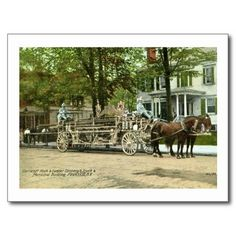 Peekskill, N.Y., Cortland Hook & Ladder Fire Truck Post Cards. Printed on ultra-heavyweight (120 lb.) card stock with a gloss finish. Available through my Zazzle store!: