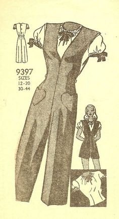 1940s Marian Martin 9397 - Jumpsuit and blouse