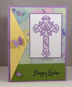 Lois' card using Butterfly Cross die