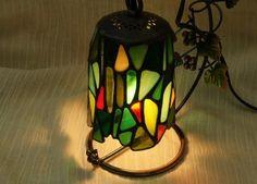 Swing Mosaic Lamp Green Lantern Interior by SleepingNightOwl on Etsy