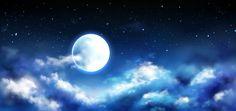 Lua cheia no céu noturno com cena de est. Night Sky Moon, Night Skies, Star Cloud, Star Sky, Ciel Sombre, Eclipse Solar, Casa Anime, Ciel Nocturne, Blur Photo Background