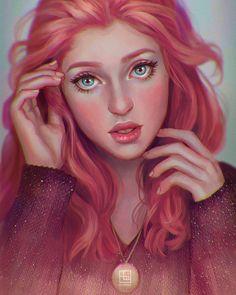 Red-haired Girl by serafleur.deviantart.com on @DeviantArt