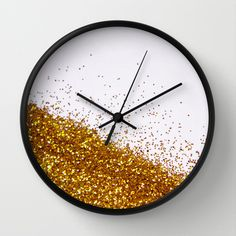 My Favorite Color II (NOT REAL GLITTER - photo) Wall Clock by Galaxy Eyes - $30.00