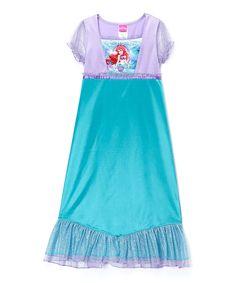 Look what I found on #zulily! Teal & Purple Ariel Mermaid Fantasy Gown - Girls by Disney Princess #zulilyfinds