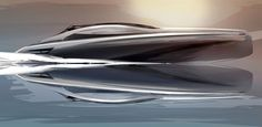 Mercedes-Benz Silver Arrows Motor Yacht Design Sketch