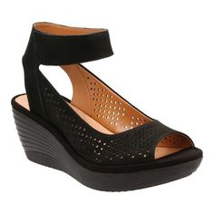 48423bb54ab5c Clarks Women s Reedly Salene Wedge Ankle Strap