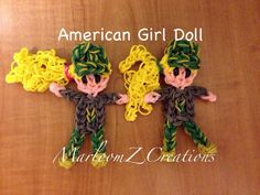 Rainbow Loom AG CAMOUFLAGE DOLL. Designed and loomed by Marlene Barressii Crafts. Click photo for YouTube tutorial. 03/03/14