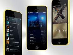 Music App Player Concept