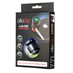 OlloClip 3-in-1 - Red - Zestaw 3 Obiektywów [iPhone 4/4S] - iSUPERSTORE.EU