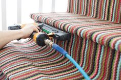 How do make a stair runner with beautiful Dash & Albert rugs.