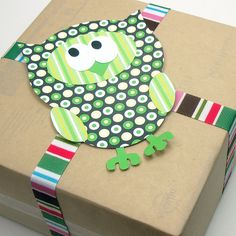 Little Green Owl Embellishment - Printable Layered Papercraft Template by scrappyllama, via Flickr