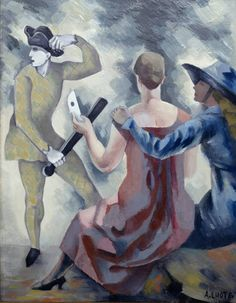 Andre Lhote - Study for 'Homage to Watteau', 1918, oil on canvas