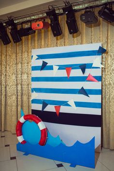 BABY SHOWER~ NAUTICAL THEMED PHOTO BACKGROUND