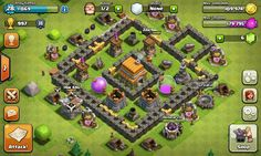 Here's my clash of clans base. Th lv 6.