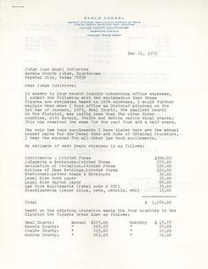 Office Expenses - Jose Angel Gutierrez. UTSA Libraries Special Collections