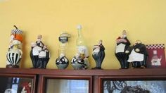 Fat Chefs are so cool! Collections of a theme are fun ways to decorate. The Fat Chef, with all of his incarnations and variations, makes a great collectible for your kitchen decor. With this charming little guy, you can collect functional items, like cookie jars or wine bottle holders, or collect just figurines. Maybe even mix them up