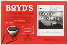 Boyds Coffee Single Cup Good Morning 12 Count * See this great product.