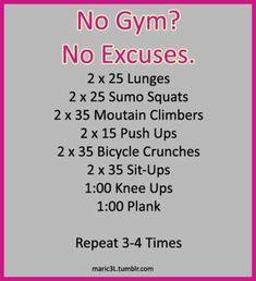 No gym workout #FullBody