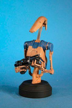 Busto Star Wars. Pilot Battle Droid, 17 cm. Con sonido. Batle Giant