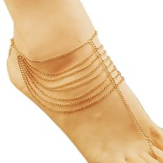 BeOne® New Fashion Beach Multi Tassel Toe Ring Bracelet Chain Link Foot Jewelry Anklet BeOne http://www.amazon.com/dp/B00VSR96BS/ref=cm_sw_r_pi_dp_JXFovb00FD6T7