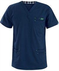 IguanaMed Scrubs Men's MedFlex II 6-Pocket Top Scrubs Uniform, Medical Uniforms, Medical Scrubs, Alaia, Scrub Tops, Dress Patterns, Work Wear, Mens Fashion, Sleeves