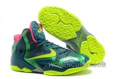 "f2cc806db2172 Discover the Nike LeBron 11 ""T-Rex"" Dark Sea Volt-Gamma Green For Sale  Christmas Deals group at Pumarihanna. Shop Nike LeBron 11 ""T-Rex"" Dark  Sea Volt-Gamma ..."