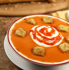Carrot, Potato and Red Pepper Soup via @creativculinary