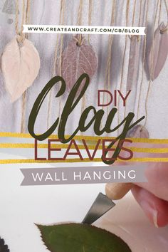 This craft tutorial takes you step-by-step through a beautiful air dry clay project to help you make the most of all the autumn leaves at your disposal, and get those creative ideas flowing! Creative Crafts, Easy Crafts, Creative Ideas, Decorative Leaves, Create And Craft, Air Dry Clay, Diy Clay, Clay Projects, Craft Activities