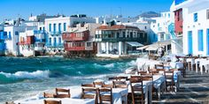 Restaurants an der Hafenpromenade von Mykonos-Stadt