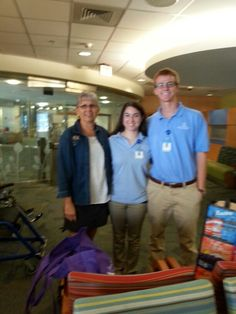 MaryAnn with volunteers at unc