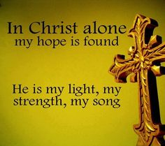 Yes He is!!! Only Christ can give us what we need! He alone is our everything...