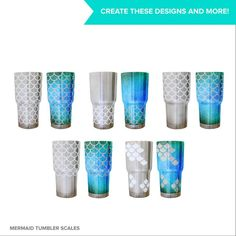 Mermaid scales SVG cutting file for Ozark 30 oz steel tumbler | Etsy. Create endless mermaid scale tumbler designs with my connected mermaid scale SVG cutting files that wrap perfectly around insulated tumblers and meet at the seams!