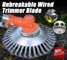Unbreakable wired trimmer blade Are you tired of your trimmer being too weak to cut hard weeds? Replace your trimmer head with the Break Proof Steel Trimmer Blade, which cuts super fast through grass, branches Yard Tools, Garage Tools, Diy Home Repair, Holiday Deals, Lawn Care, Cool Tools, Diy Tools, Garden Projects, Backyard Landscaping