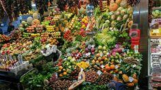 Mercato frutta Barcellona