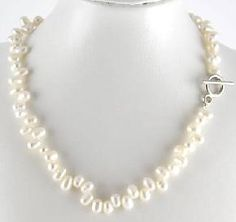 New~Genuine White Wedding Pearl Choker/Necklace~Free Shipping $16.99