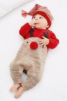 Buy Red Reindeer Romper (0mths-2yrs) online today at Next: United States of America