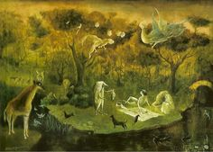 Leonora Carrington English-born Mexican artist, surrealist painter, and novelist) Michael Sowa, Gary Baseman, Max Ernst, Illustrations, Illustration Art, Mary Blair, Dora Carrington, Le Kraken, Art Visionnaire