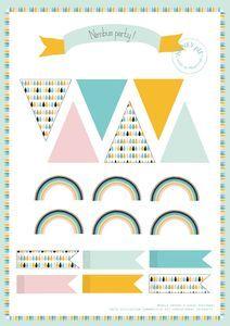 Párty dekorace k vytištění zdarma. Free printable party decoration.