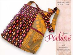 Free Bag Pattern and Tutorial - Boho Shoulder Bag Pattern