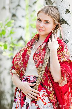 Photo about Russian beauty - the happy girl. Image of beauty, hair, happy - 14952188 Russian Beauty, Russian Fashion, Culture Russe, Most Beautiful Women, Beautiful People, Style Russe, Costumes Around The World, Russian Culture, Folk Costume