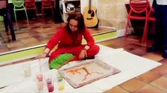 Live Painting Performance MAriska MA Veepilaikaliyamma Bistrot ASAIS Bor...