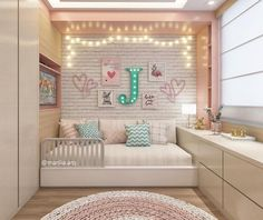 Amazing Girls Bedroom Ideas, Childrens Bedroom Decorating Ideas Home What do you think? Cute Room Decor, Cute Bedroom Ideas, Girl Bedroom Designs, Girls Bedroom, Bedroom Decor, Bedrooms, Bedroom Rugs, Childrens Bedroom, Dream Rooms