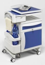 newstyle hospital ward bedside cabinets with overbed table