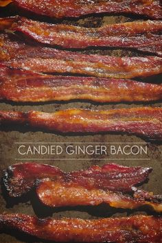 Bacon gets enhanced with a rub made of crystalized ginger, brown sugar & maple syrup. After baking in the oven it becomes Candied Ginger Bacon. Find the recipe on Shutterbean.com !