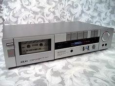 1980s AKAI Stereo Cassette Deck Model HX-1C.